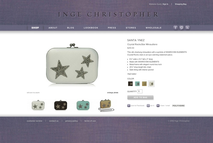 Inge Christopher Product Details Page