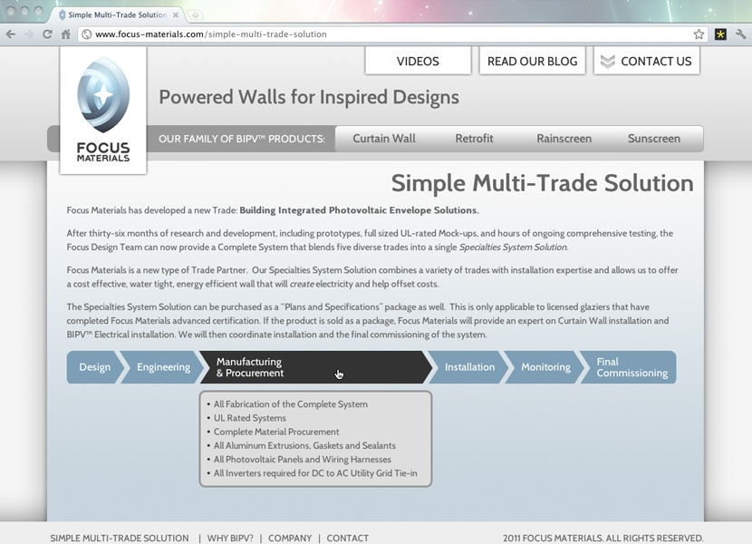 Focus Materials: multi-trade solution