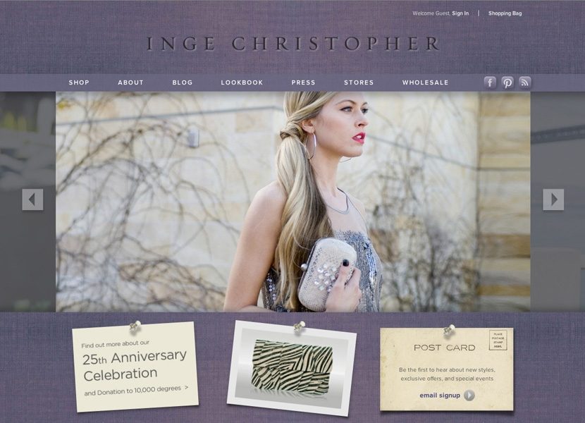 Inge Christopher Homepage