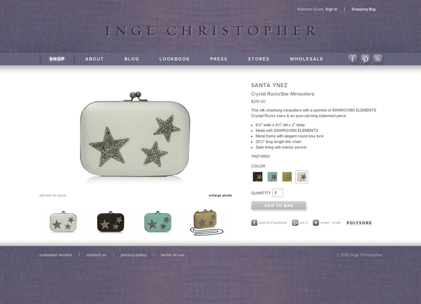 Inge Christopher Product Details