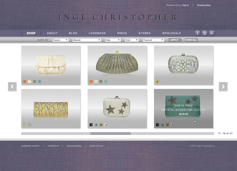 Inge Christopher Shop