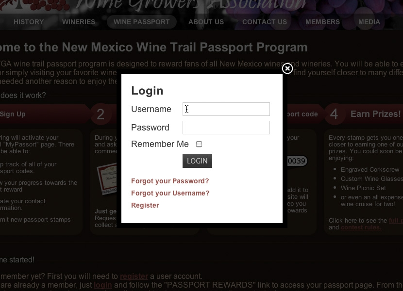 NMWGA Passport Login