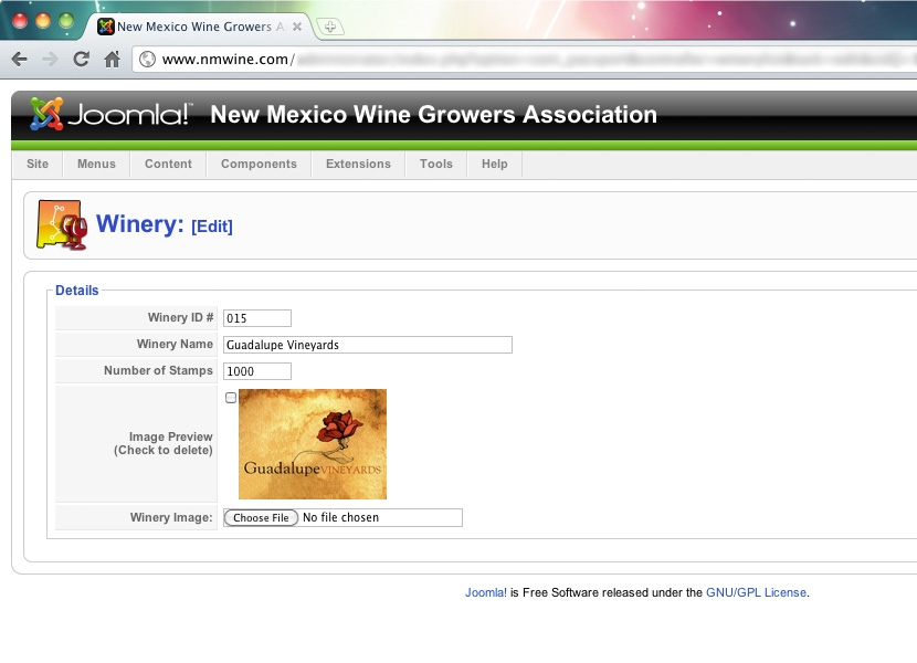 NMWGA Passport Admin Winery Edit