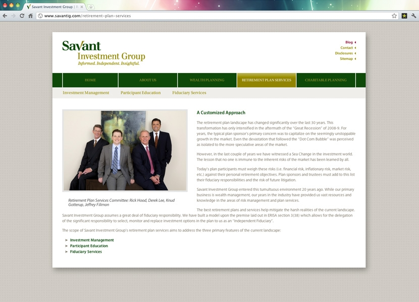 Savant Investment Group | Basic Page