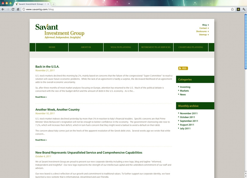 Savant Investment Group | Blog