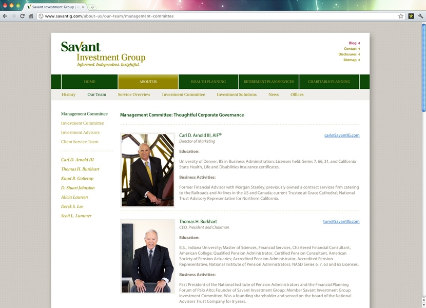Savant Investment Group | Team
